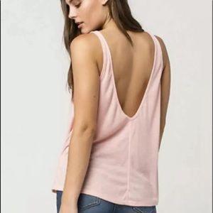 Free People Sleek N Easy Pink Ribbed Tank Top